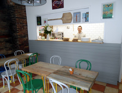 Picture inside the new licensed Yellow Belly Pizza Company Pizzeria in Brigg town centre