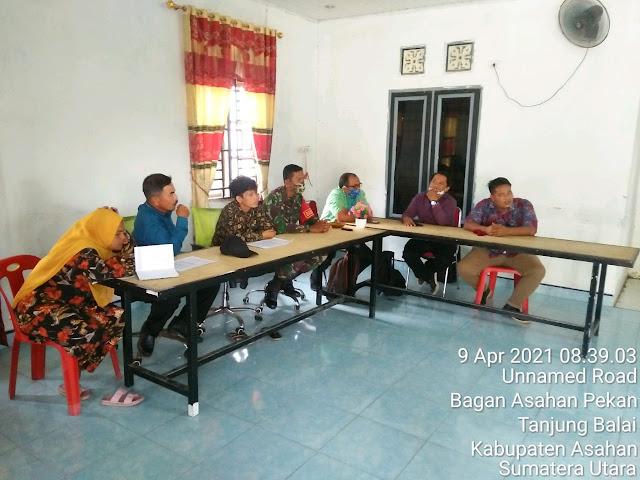 Musyawarah Verifikasi Penerima Dana BLT Desa Tahun 2021 Dihadiri Personel Jajaran Kodim 0208/Asahan