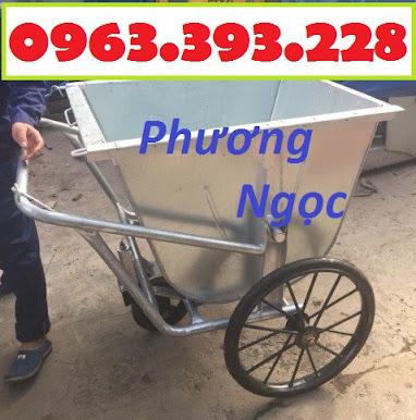 Xe gom rác bằng tôn 3 bánh, xe rác tôn 400 Lít, xe thu gom rác tôn, xe đẩy rác XRT400L3