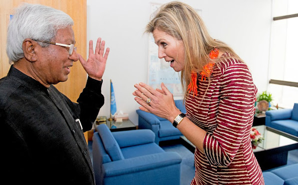 Queen Maxima of the Netherlands a three day visit to Bangladesh. Queen Maxima of the Netherlands, also UN Secretary-General's Special advocate for Inclusive Finance for Development (UNSGSA)