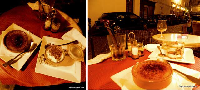 Sobremesas do restaurante Le Tambour d'Arcole, em Paris