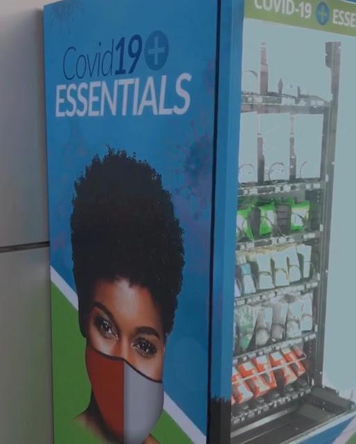 COVID19 coronavirus vending machine COVID19 essentials
