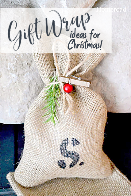 Gift wrap ideas with overlay for pinning