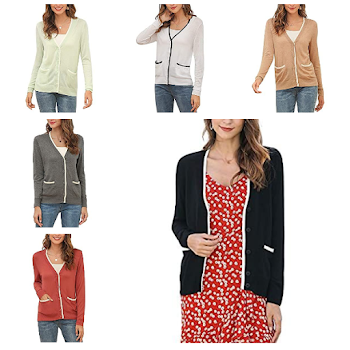 50% off Women's V Neck Button Down Cardigan