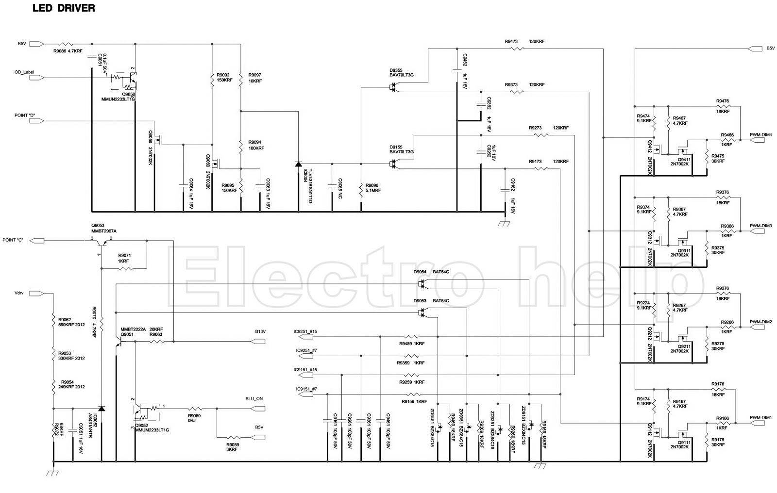 led lamp driver circuit diagram bpt door entry handset wiring electro help samsung bn44 00428b  lcd tv smps