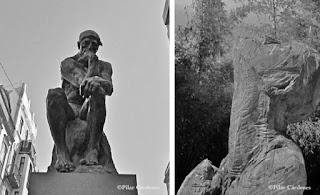 Exposición de esculturas de Rodin: El Pensador y los burgueses de Calais en gran Canaria