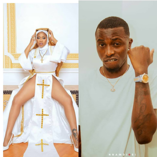 """""""Let this be the last time you will disrespect christianity""""- Davido's former PA, Aloma warns Toyin Lawani, over her racy nun outfit"""