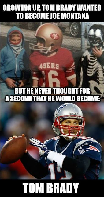 growing up, tom brady wanted to become joe montana. tom brady