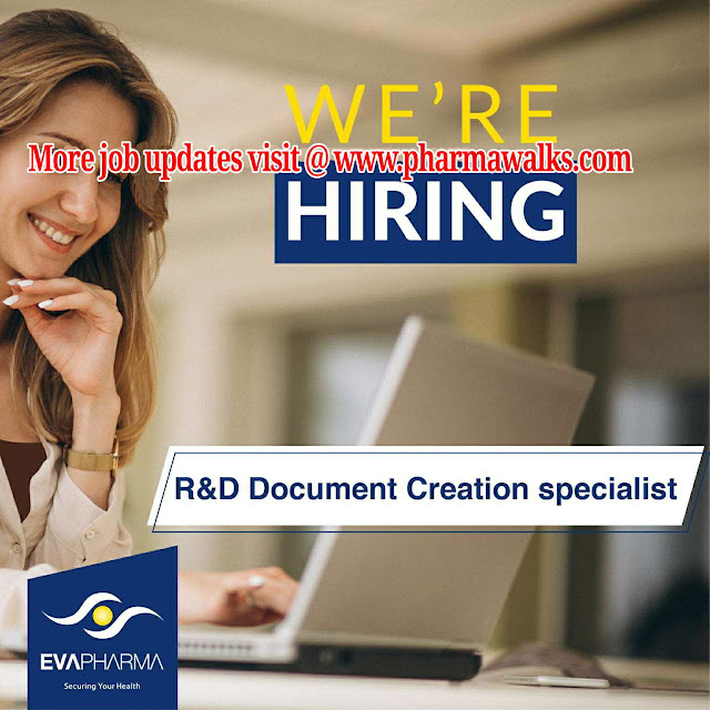 Eva Pharmaceuticals - Hiring for Oncology Product Specialist / R&D Documentation Creation Specialist