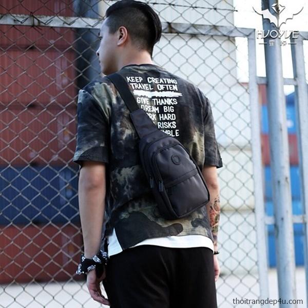 Túi đeo chéo trước ngực vải dù thời trang cao cấp BAM021