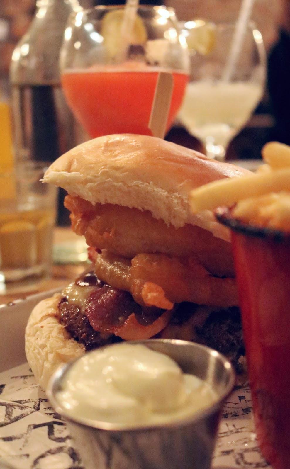 Texas Burger at Fat Hippo Underground