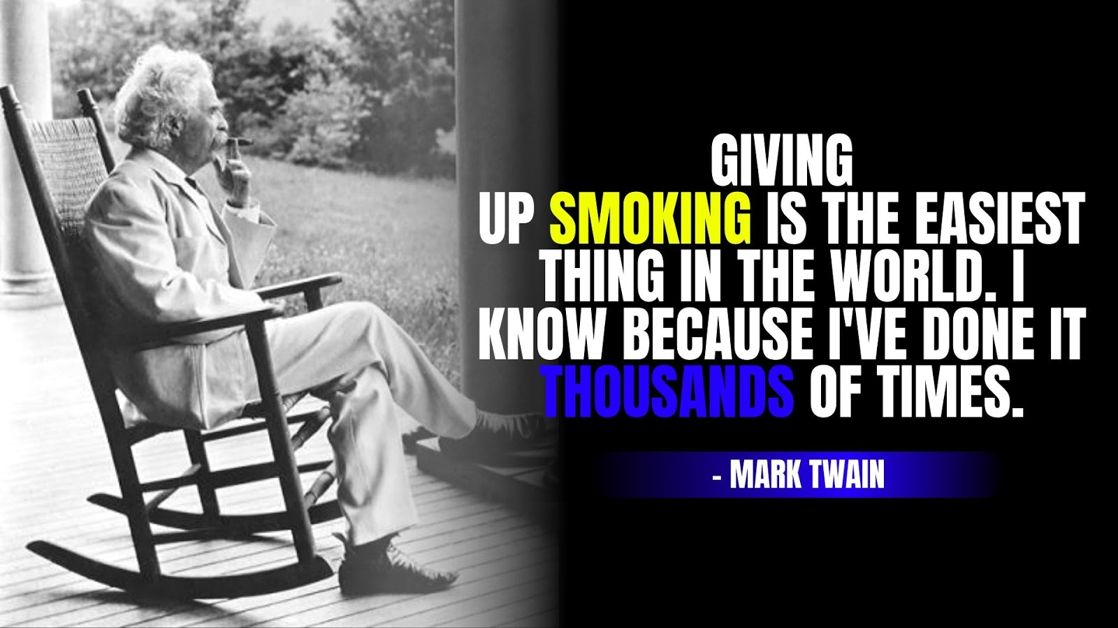 Mark Twain Quotes About Smoking, Mark Twain Quotes on Life