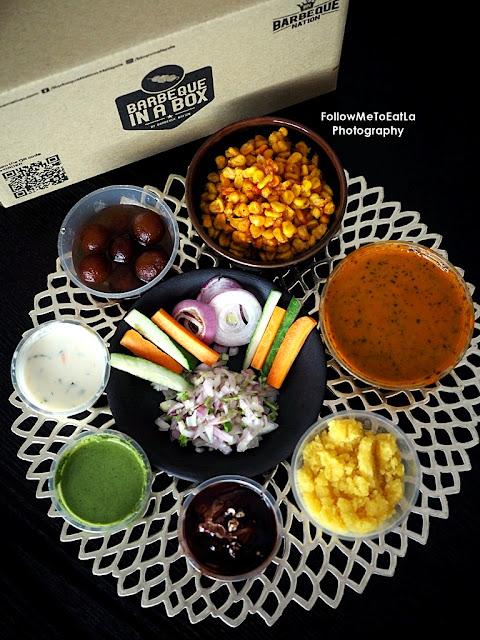 Crispy Corn, Dal Makhani, Moong Dal Halwa, Chocolate Mousse, Mint Chutney, Raita & Gulab Jamun  (Clock-Wise)