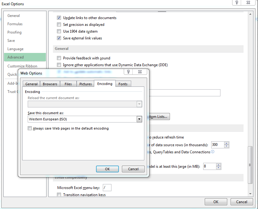 Technical Tips: How To Change Character Encoding In Excel 2013?
