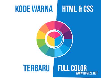 Kode Warna HTML & CSS Terbaru Lengkap Full Color - hostze.net