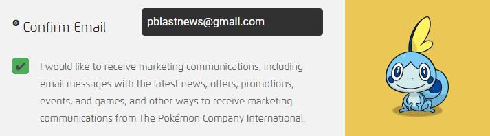 Marketing Preference Pokémon Trainer Club Nova Conta
