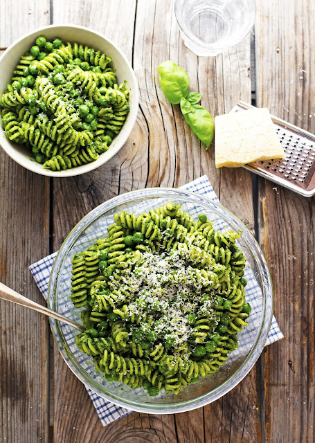 Spring Pasta Salad alongside Pesto together with Peas