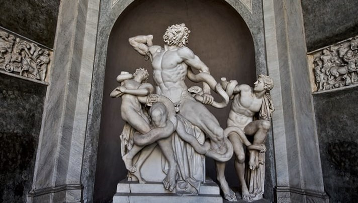Sculpture of Laocoön and His Sons by Agesander and Polydorus of Rhodes