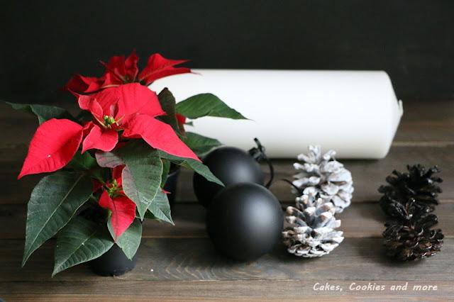 Anleitung für schwarz weissen Adventskalender mit Weihnachtssternen