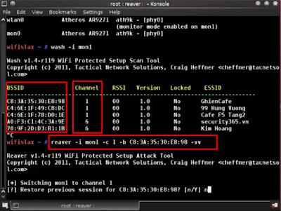 Hướng Dẫn Hack Wifi Qua WPS