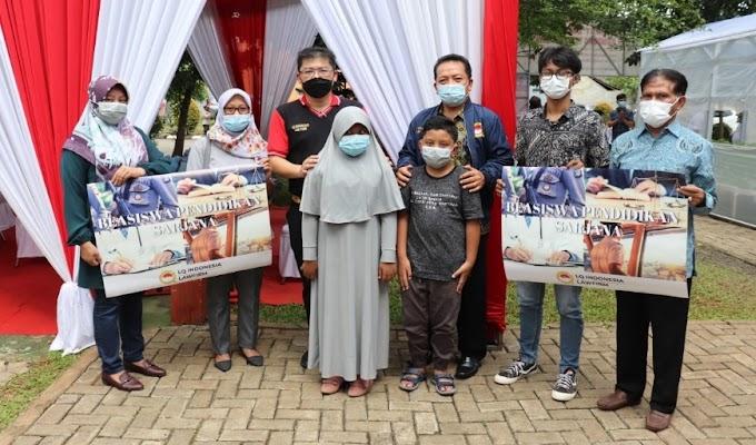 LQ Indonesia Lawfirm Berikan Beasiswa kepada 3 Anak Polisi yang Meninggal karena Covid-19