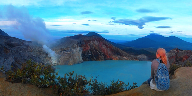 """""""Ijen Volcano Crater Indonesia"""", Banyuwangi Regency Java Island, the Indonesia call name is """"Kawah Ijen""""  is volcanoes mountain east java, which always active every day and result of """"Sulphur"""", the Kawah Ijen is one of mountain  result of """"Blue Fire or Blue Flame"""" the Indonesia called name is """"Api Biru"""" which is the Blue Fire or Blue Flame come out only in the night day 00.00pm  until 5.15am in the morning day,  beside is Ijen come out  Blue Fire or Blue Flame, at the time is morning day for any tourist can be enjoy beauty of  the """"Lake"""" and miners ijen work every day on crater Up and Down, not only that at the time morning day for the tourist also can be enjoy some of mountains near """"Ijen Crater"""" like : Mount Ranty, Mount , Mount Merapi, Mount Suket, Mount Raung. We offer best price for  tour package holiday in Indonesia tourism  """"Ijen Crater Tour or Kawah Ijen Tour"""" and trip to the """"Ijen Volcanoes Crater""""  like the : """"Ijen Morning Tour"""", """"Blue Fire Tour"""", """"Blue Flame Tour"""","""" Ijen Crater Tour From Surabaya"""", """"Ijen Crater Tour From Bali"""", """"Ijen Crater Tour From Banyuwangi"""", """"Ijen Tour"""",""""Ijen Travel"""", services also tour package like """"Bromo Ijen Tour"""", """"Ijen Bromo Tour"""", """"Bromo Tour""""  Holiday in java island with """"Ijen Tamansari Tour""""."""