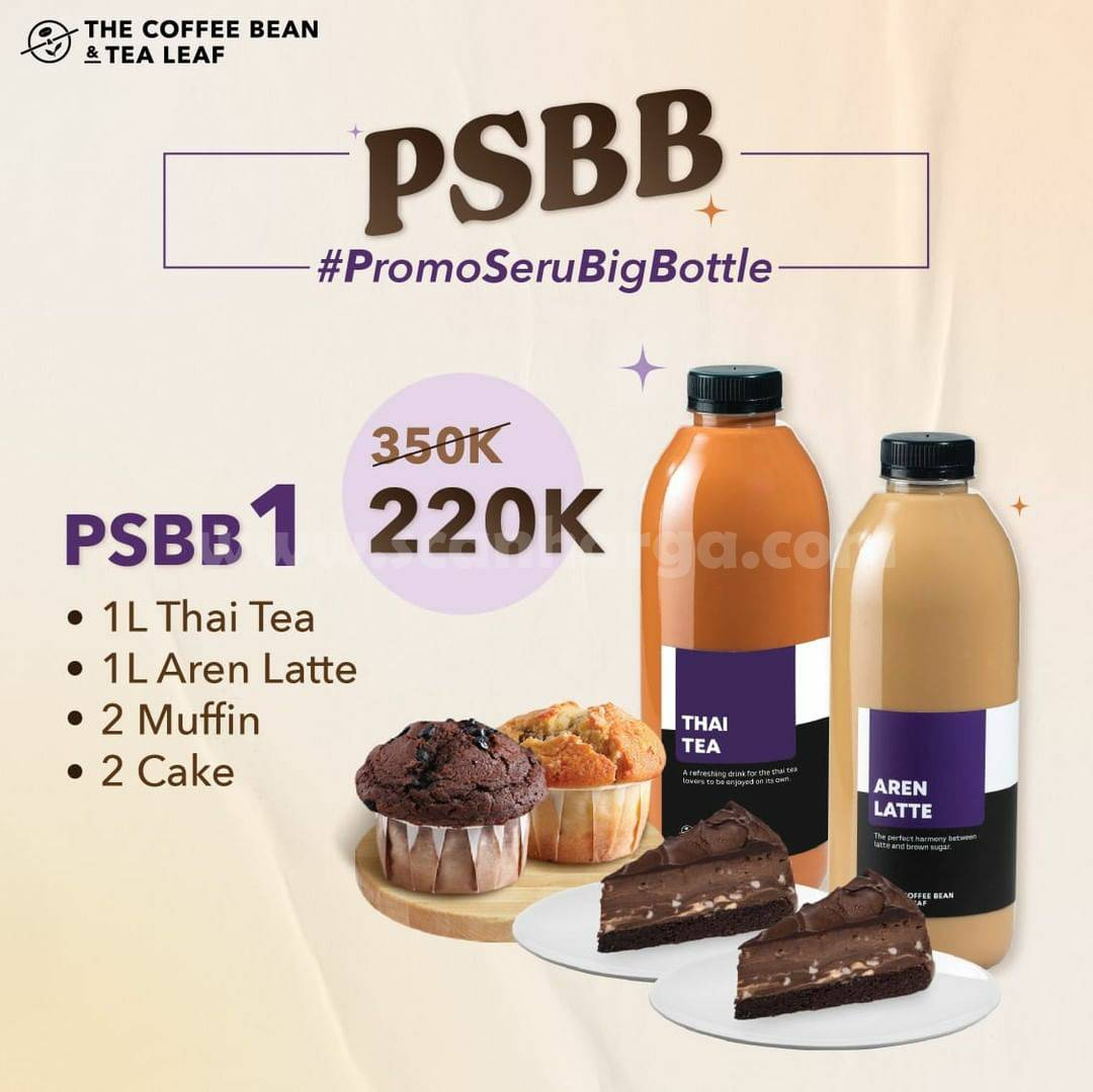 The Coffee Bean Paket PSBB (Promo Seru Big Bottle) 3