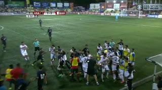 US Bahrain soccer brawl, fight, soccer fight
