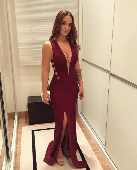 vestido de festa marsala vinho