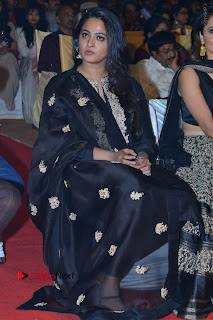 Actress Anushka Anushka Shetty Stills in Black Salwar Kameez at Om Namo Venkatesaya Audio Launch Event  0044.JPG