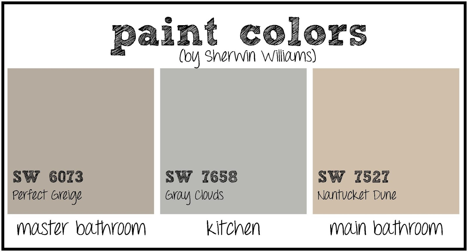 Best Greige Paint Colors SherwinWilliams