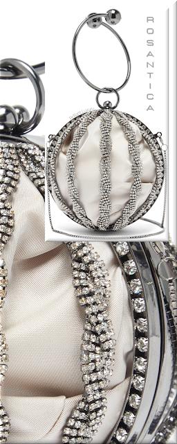 Rosantica silver Tresse Boule crystal-embellished bag #bags #eveningbags #rosantica #brilliantluxury