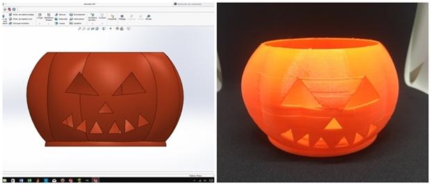 diseño en solidworks vs version impresa