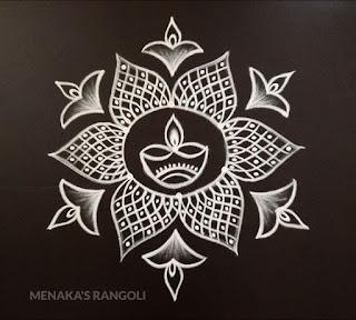 easy dotted rangoli designs 2020