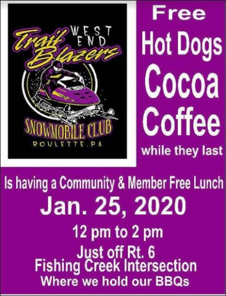 1-25 West End Trailblazers Free Lunch Get Together