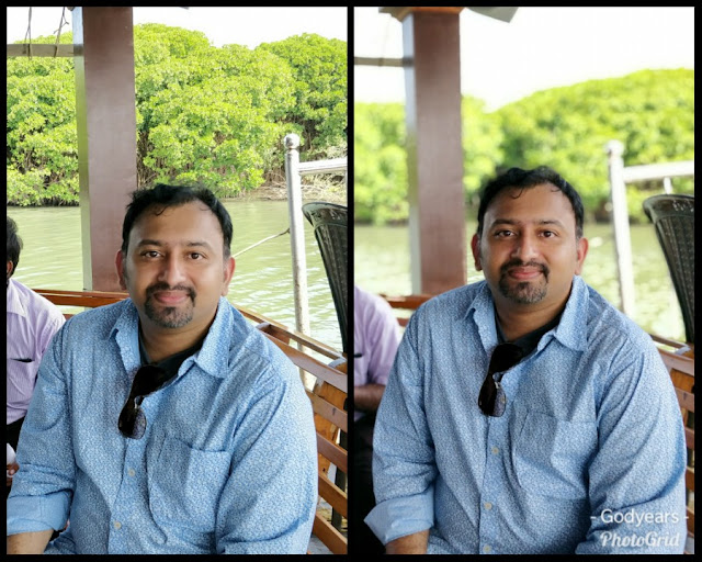 Without and with the 'Profile' effect of the OnePlus5T camera