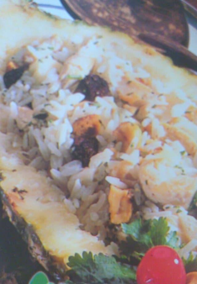 receita de arroz de forno no abacaxi