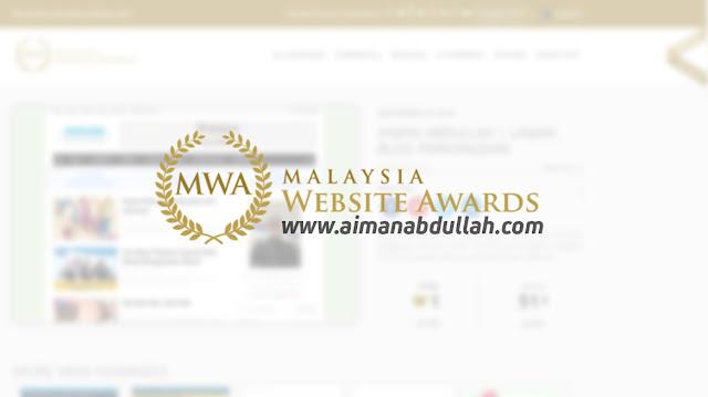 Tercalon Dalam Malaysia Website Award | Tolong Vote!