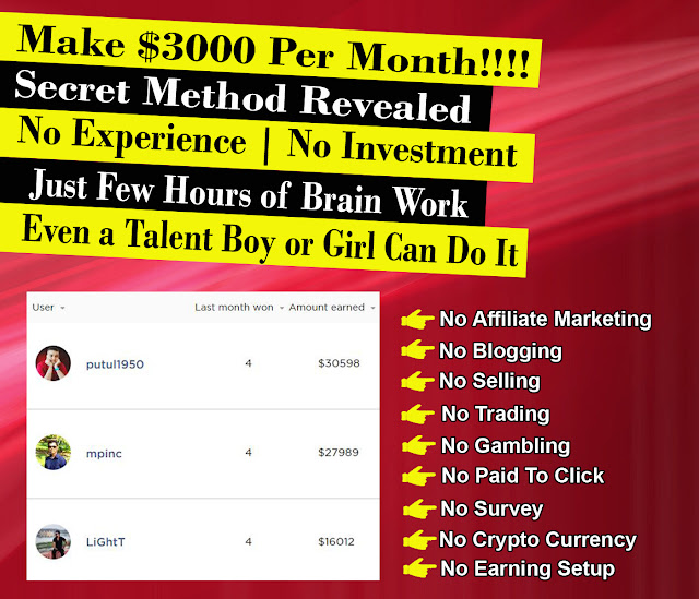 Make Fast Money Online Without Investment