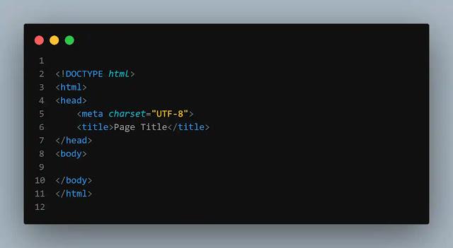 بنية صفحة html