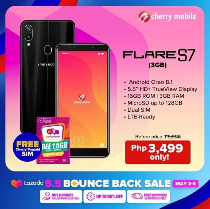 Cherry Mobile Flare S7 On Sale from May 3 to 5 for Only Php3,499