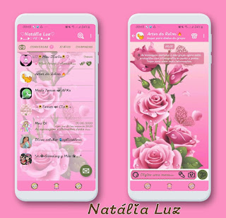 Rosas Cute Theme For YOWhatsApp & Fouad WhatsApp By Natalia Luz