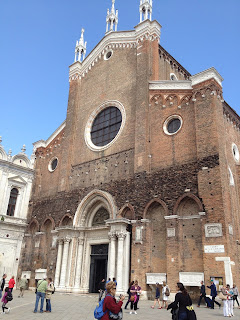 The Basilica dei Santi Giovanni e Paolo in Venice, where Palma Giovane is buried