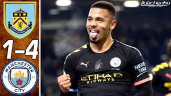 Burnley 1 - 4 Manchester City premier league highlight