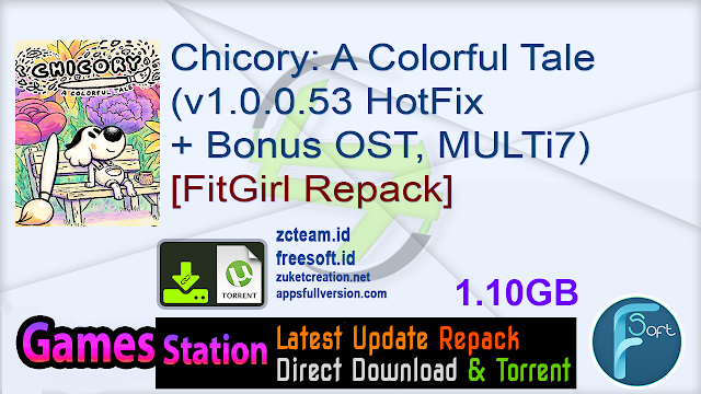 Chicory: A Colorful Tale (v1.0.0.53 HotFix + Bonus OST, MULTi7) [FitGirl Repack, Selective Download – from 953 MB]
