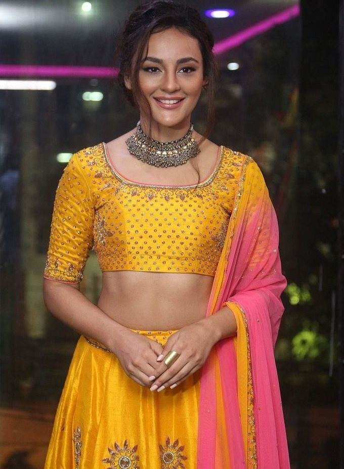 Seerat Kapoor In Yellow Dress At Akruthi Designer Studio Launch