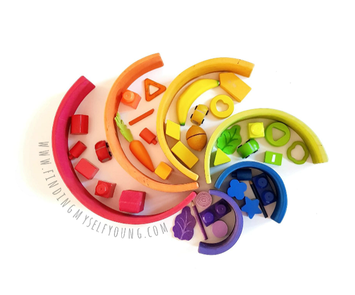 Grimms rainbow spiral colour sorting