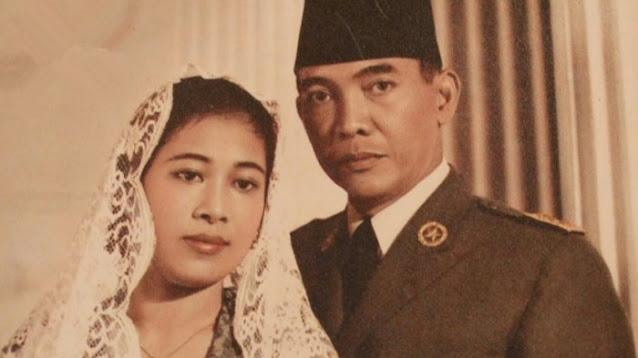 Foto Bung Karno dan Bu Fatmawati