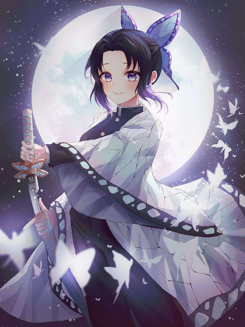 shinobu kocho kimetsu no yaiba cool girl hd