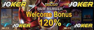Bonus New Member 120% di 88CSN Situs Judi Slot Online Terbaik Joker123